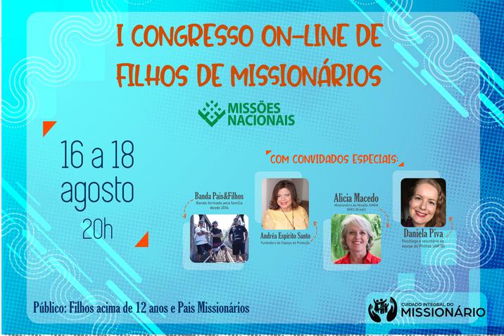 I Congresso On-line de Filhos de Missionários de Missões Nacionais