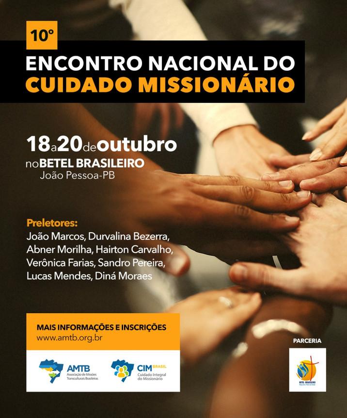 10º Encontro Nacional de Cuidado Missionário