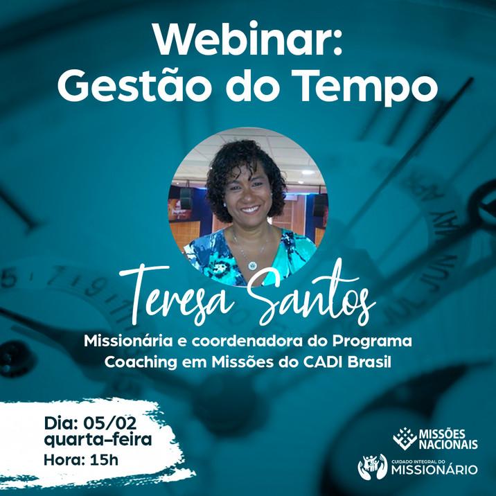 Vídeo e apresentação disponível da Webinar Gestão do Tempo