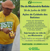 Ações de Cuidado no Dia do Missionário Batista - 26/06
