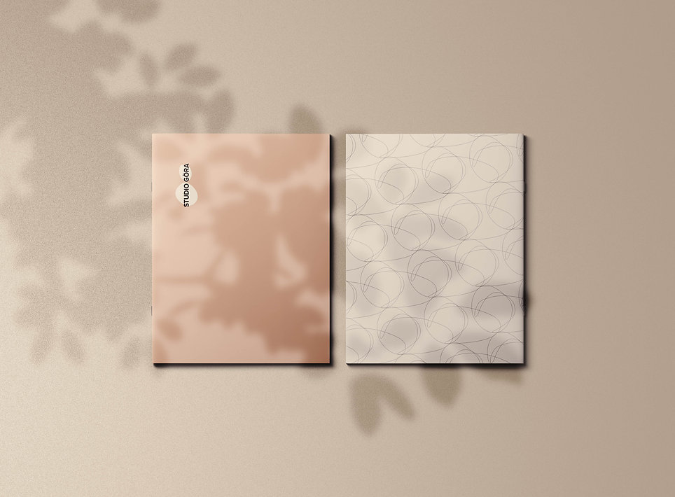 GORA Letter Brochure Cover with Shadow O