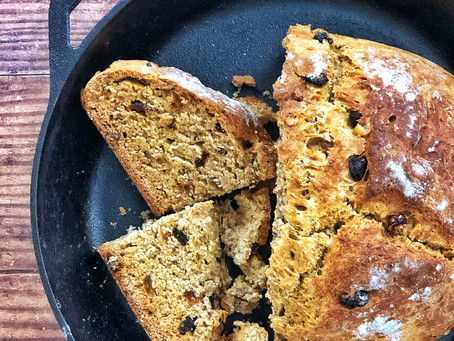 Homemade bread that doesn't take forever!? I am down! Honey, Wheat & Raisins quick-bread.