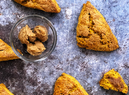 Pumpkin Scones & Maple Butter just in time for Thanksgiving!