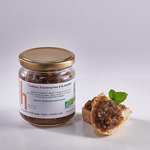 Chutney d'aubergines à la menthe (150 gr)