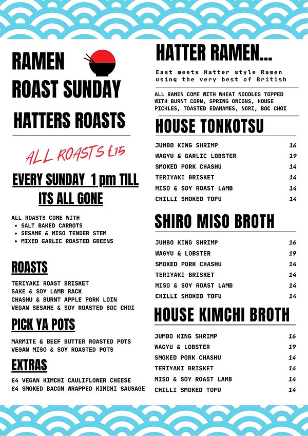 UNDAY ROAST ALL COME WITE SESAME & MISO