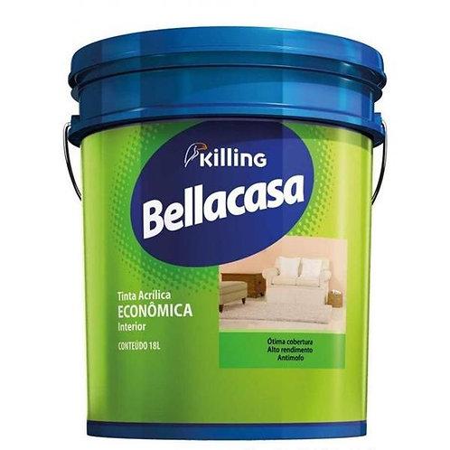 Tinta Bellacasa Acrílico Fosco Econômico Branco 18L
