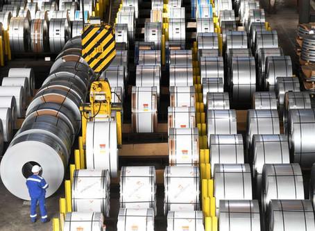 Industria de Aço antevê reajustes para Agosto e Setembro