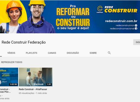 Lançamento Canal do Youtube - Rede Construir Federação