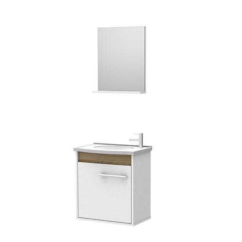 Conj. Banheiro 3 peças (Bl/Pia/Espelh) 50 cm Standard - ref. 537