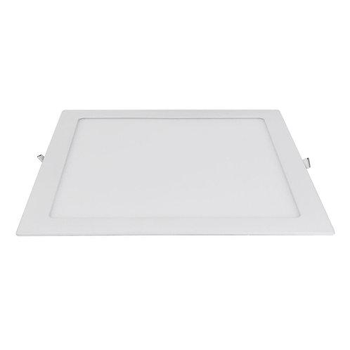 Painel de LED 12W Embutir Quad. Aluminio 6500k