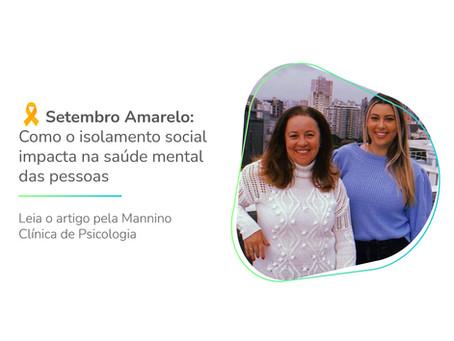Setembro Amarelo: Como o isolamento social impacta na saúde mental das pessoas