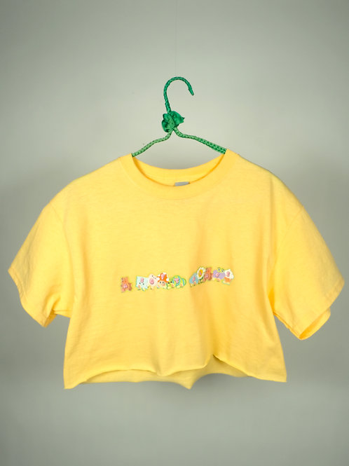 Soft Place Crop Top YELLOW