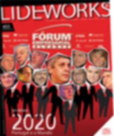 Botão com imagem da capa da revista Lideworks