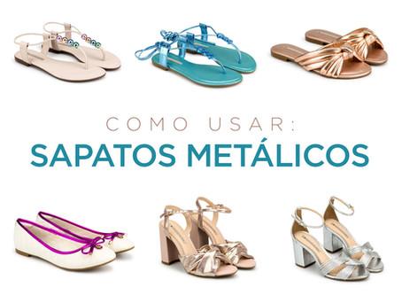Como usar: sapatos metalizados