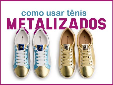 Como usar: tênis metalizado