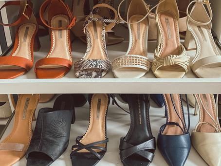 Como organizar seus sapatos