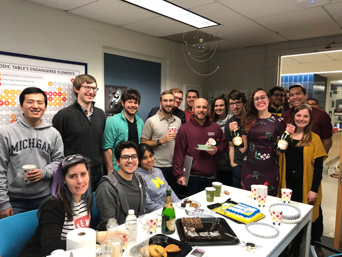 Party for Hannah's passing of her candidacy exam.
