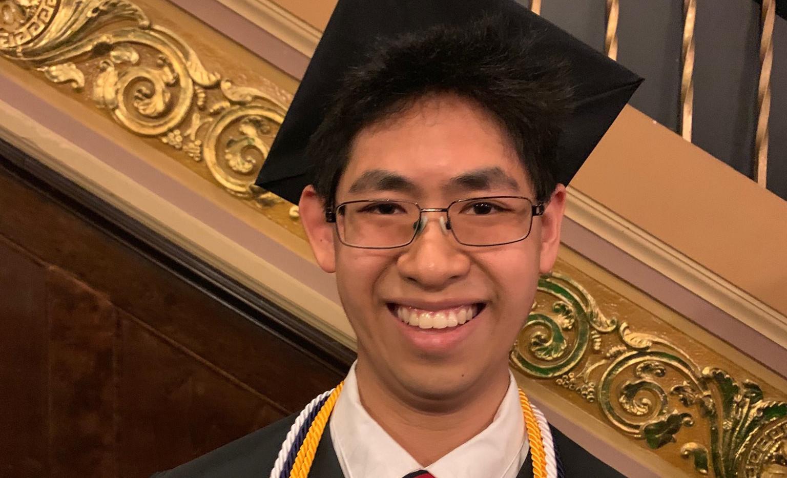 Our undergrad Max graduated Congrats, Max!