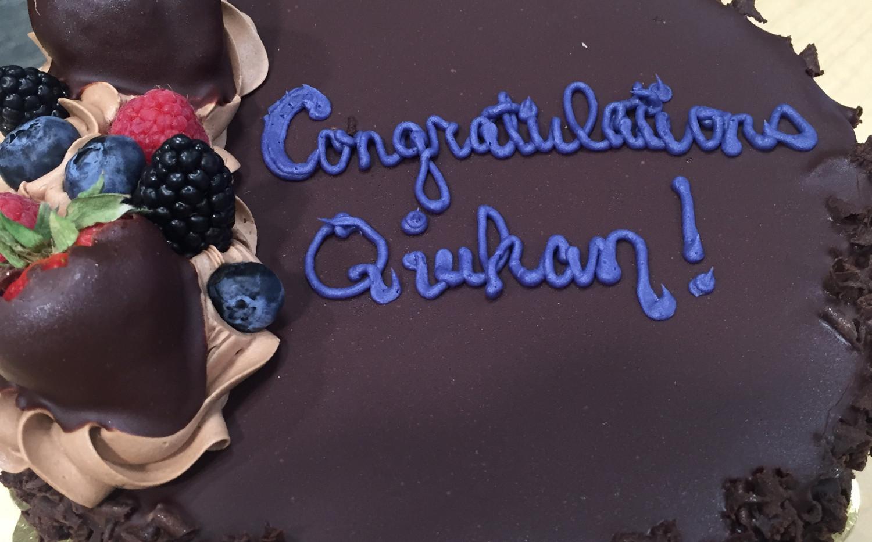 Congratulation Qiuhan