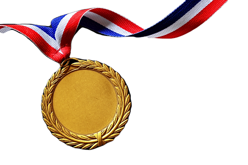 Gold medal on black with blank face for text, concept for winning or success_edited.png