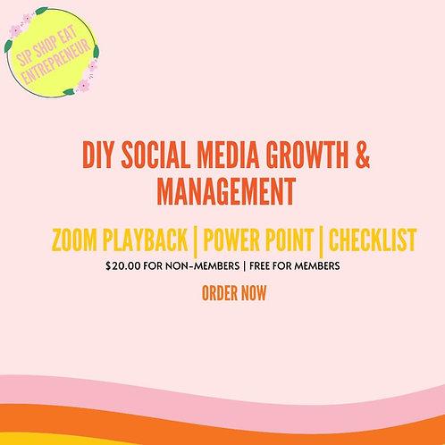 DIY Social Media Growth + Management