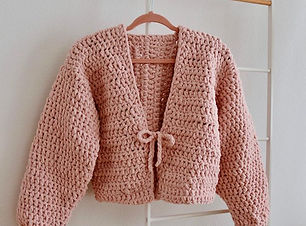 Poppylin hand crocheted cable sweater.jp
