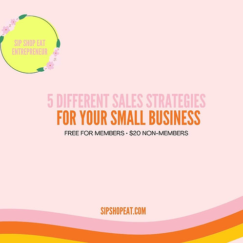 5 Different Sales Strategies for your small business
