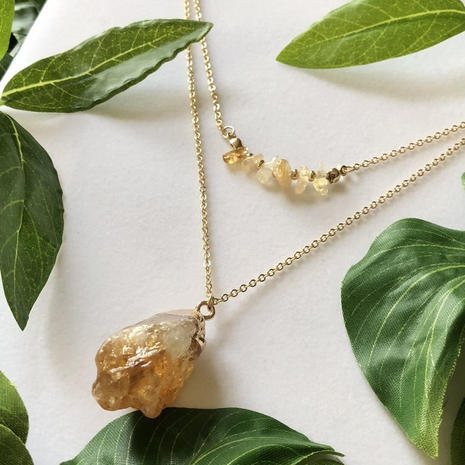 Internal Sunshine Citrine Necklace