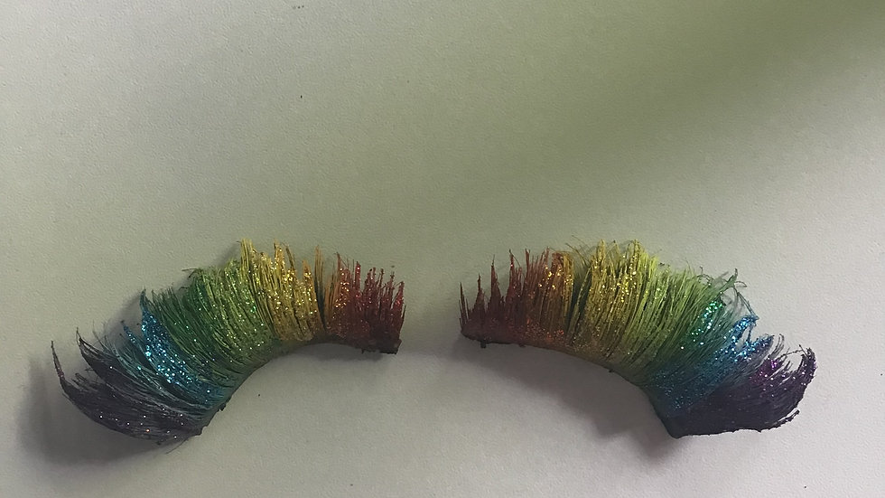 Rainbow Glitter Eyelashes