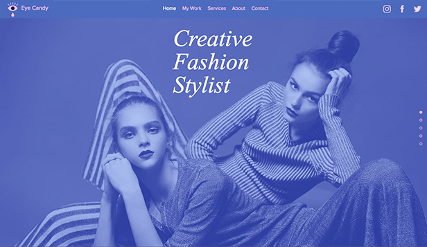 Mode & Accessoires website templates – Kreative Modestylistin