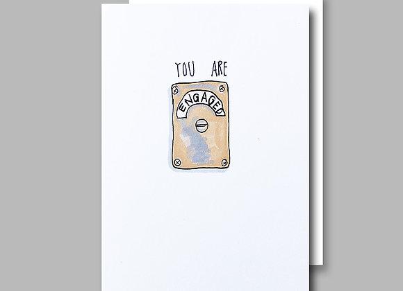 Engaged Loo card