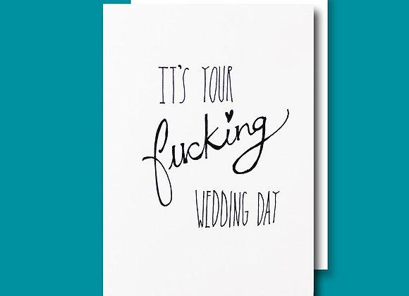 Fkn wedding day card