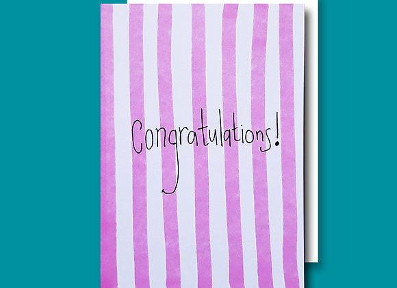 Congrats Stripy card