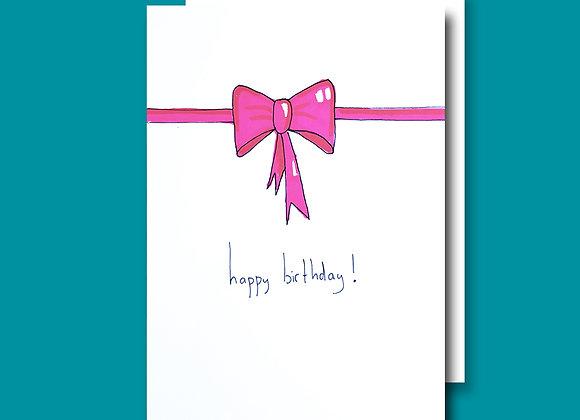 Pink Birthday Bow card