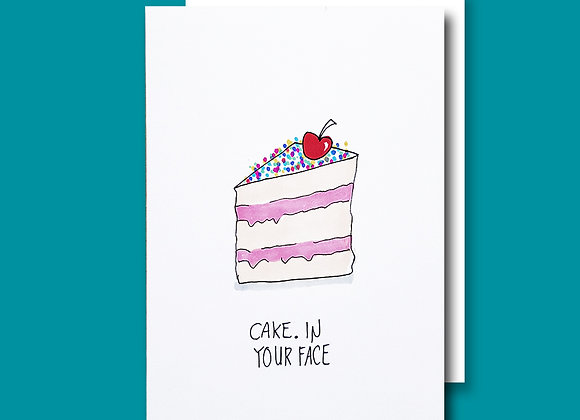 Cake in Face card