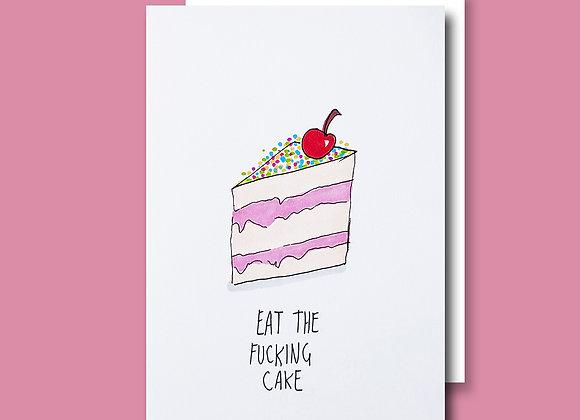 Eat Fkn Cake card