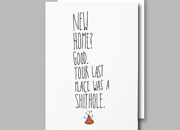 Last Place Shithole card