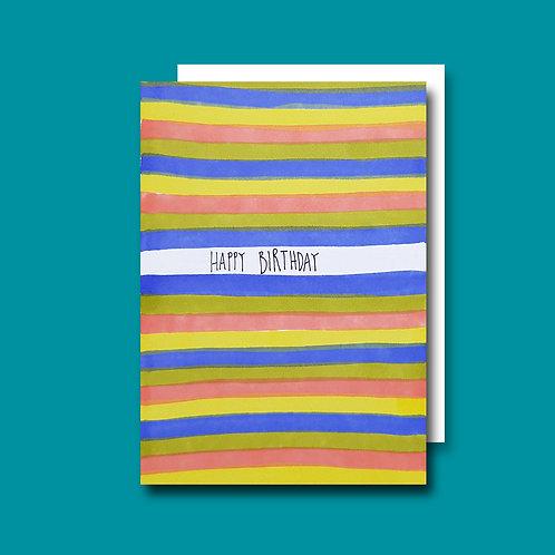 Stripy Birthday card