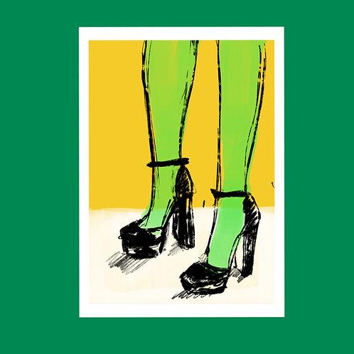 Highlighter Legs art print