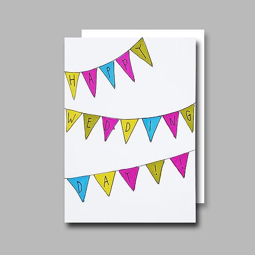Bunting Wedding card