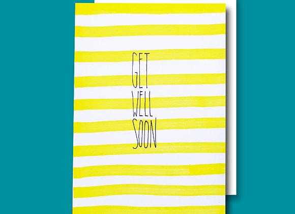 Get Well Stripy card