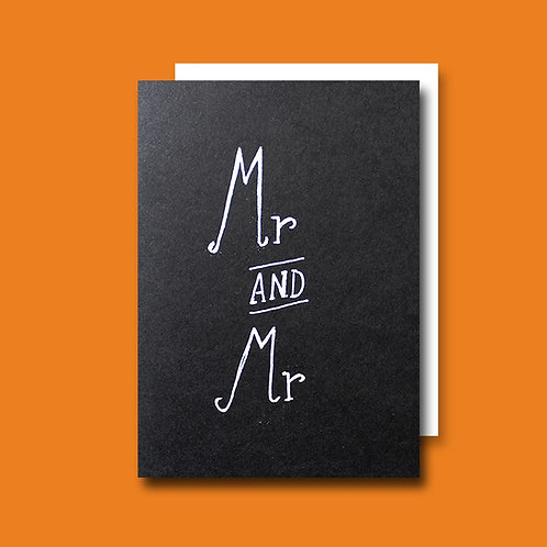 Mr and Mr card