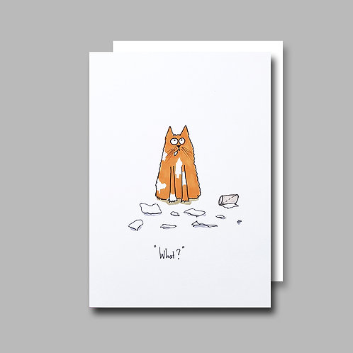 Toilet Roll Cat card