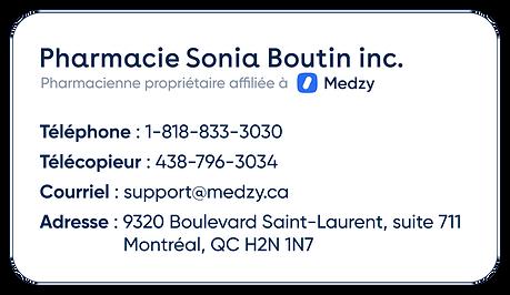 Pharmacie Sonia Boutin inc.