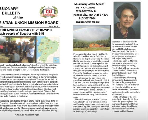 March 2019 Bulletin