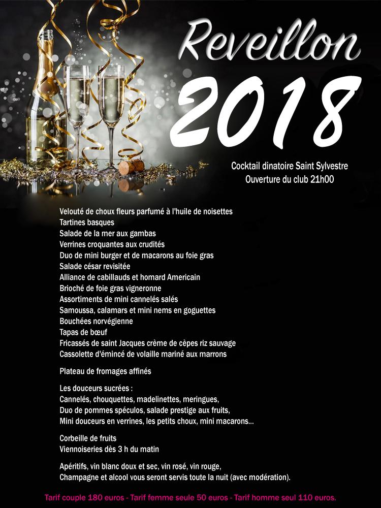 Menu reveillon 2018