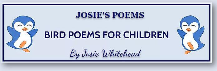 Bird Poems for Children - blue backgroun