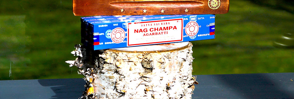 Nag Champa Incense Sticks (3 Boxes) & Free Incense Burner - Reiki Master Infused