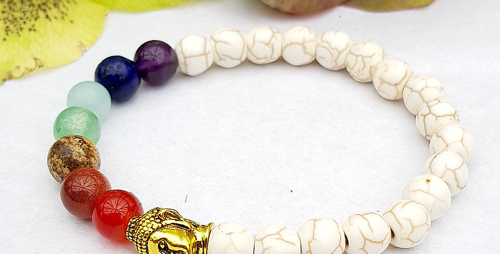 7 Chakras Gemstone Buddha Weight Loss Bracelet - Yoga - Reiki Charged