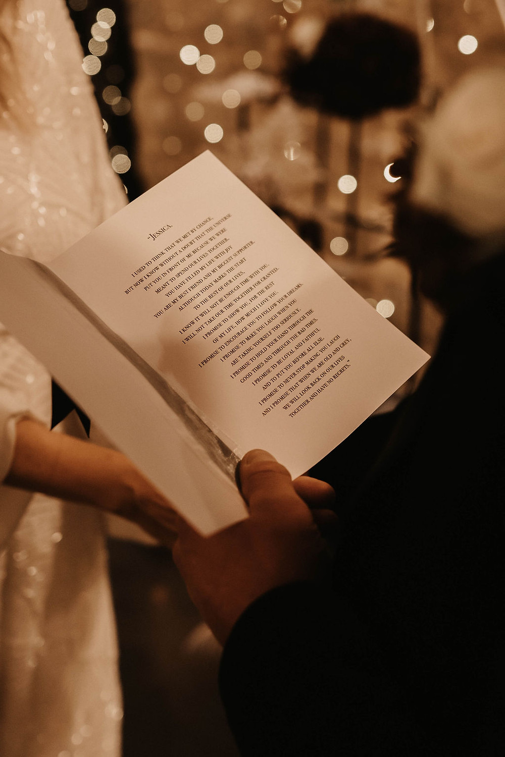 Personalised wedding vows for your celebrant led ceremony